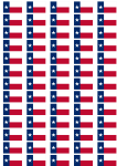 Texas Flag Stickers - 65 per sheet